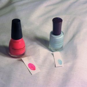 Pink & Blue Nail Polish Bundle